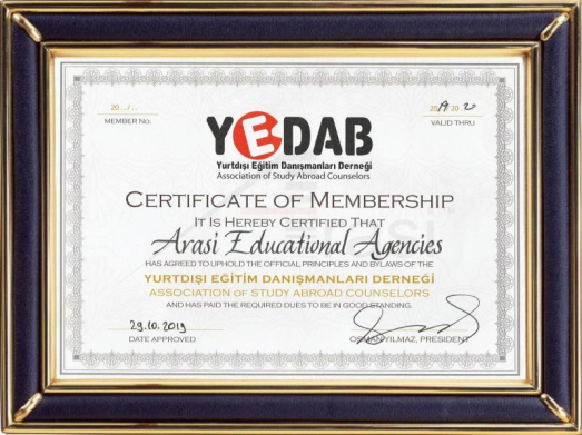 Member of YEDAB 2019-2020