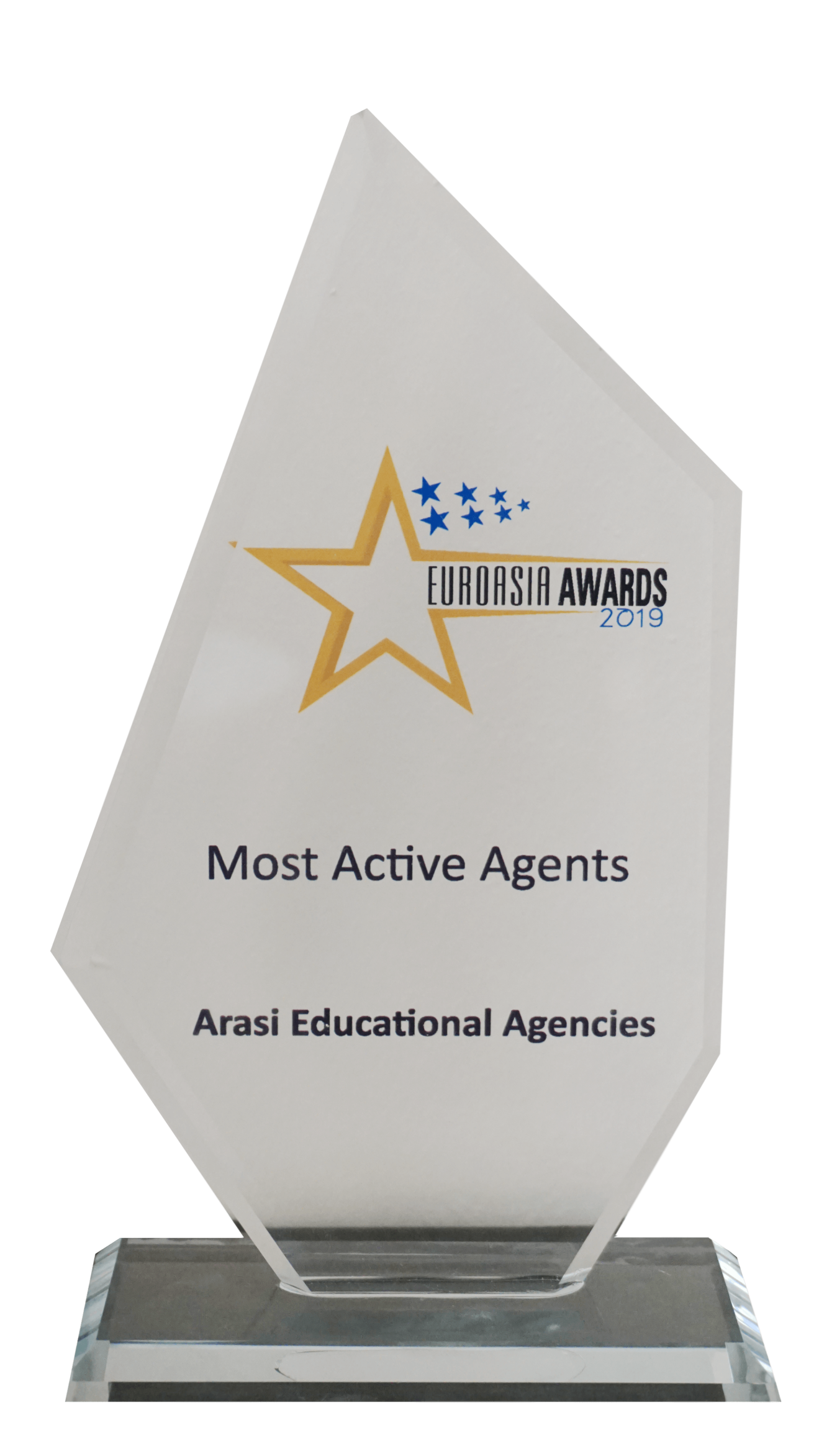 Arasi Educational Agenices Winner Awards 2019 by EuroAsia